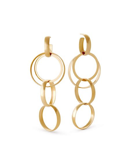 14k Alias Curve Bond Drop Earrings
