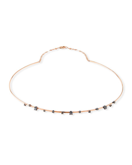 Lana Reckless Solo Choker Necklace in 14k Rose