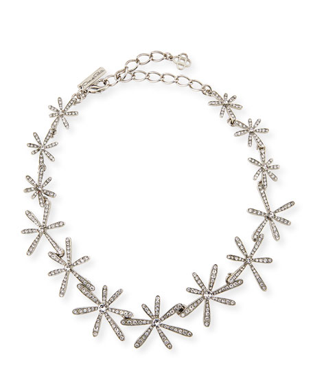Daisy Crystal Collar Necklace