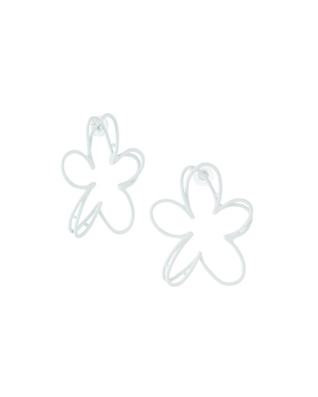 Oscar de la Renta Botanical Scribble Earrings