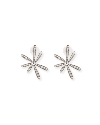 Daisy Swarovski Crystal Pavé Earrings