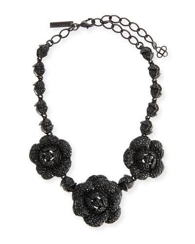 Gardenia Pavé Swarovski Crystal Necklace