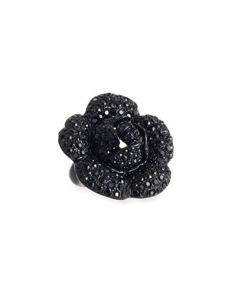Gardenia Pave Swarovski Crystal Ring