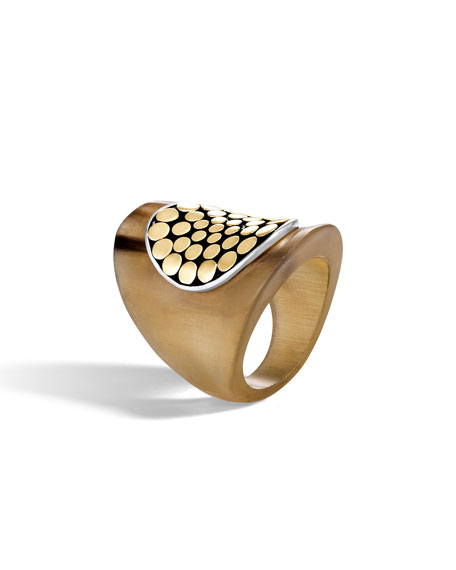 Buffalo Horn Dot Saddle Ring