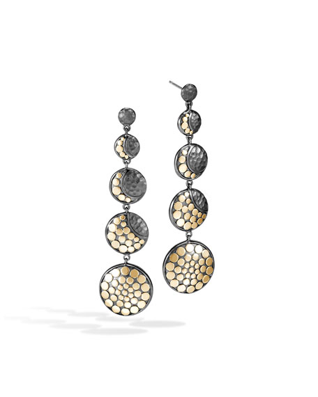 John Hardy Dot Moon Phase Drop Earrings