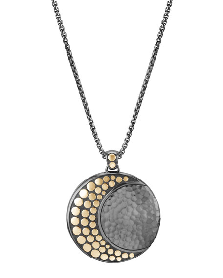 John Hardy Dot Crescent Moon Pendant Necklace, 36