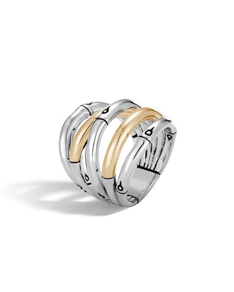 Bamboo Two-Tone Split Ring