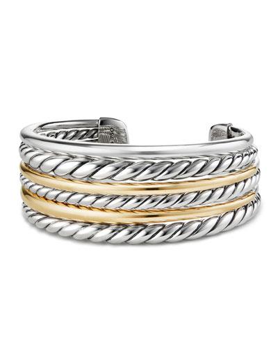 Pure Form Multi-Row Cuff Bracelet w/ 18k Gold