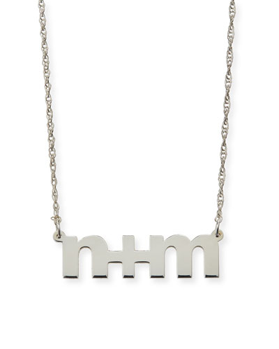 Sam Personalized Block Letter Pendant Necklace