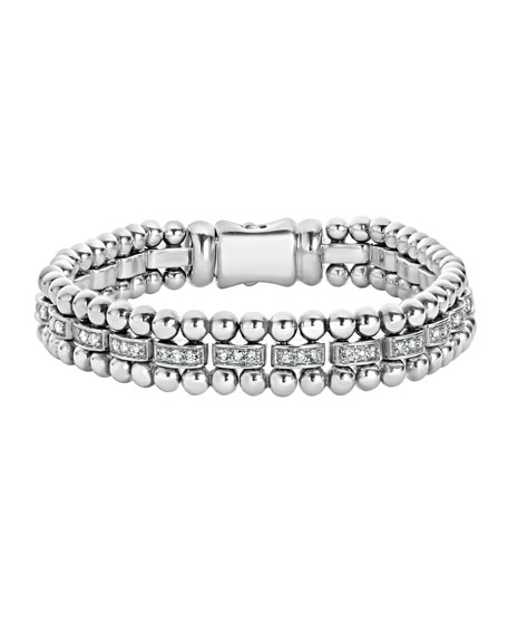 Caviar Spark Diamond Link Bracelet