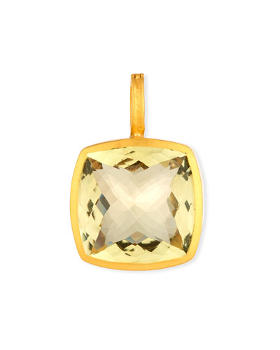 Square Lemon Citrine Pendant