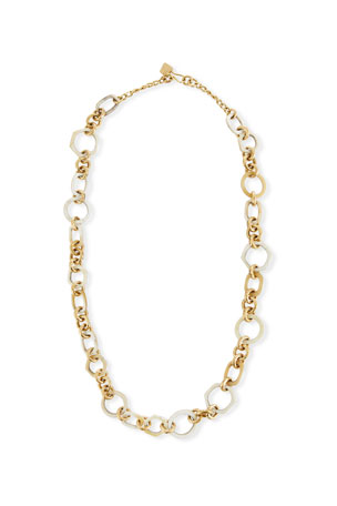 Ashley Pittman Shauri Light Horn Link Necklace