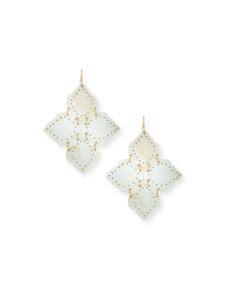 Ashley Pittman Angalia Light Horn Drop Earrings