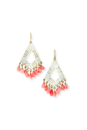 Ashley Pittman Mashua Light Horn Drop Earrings