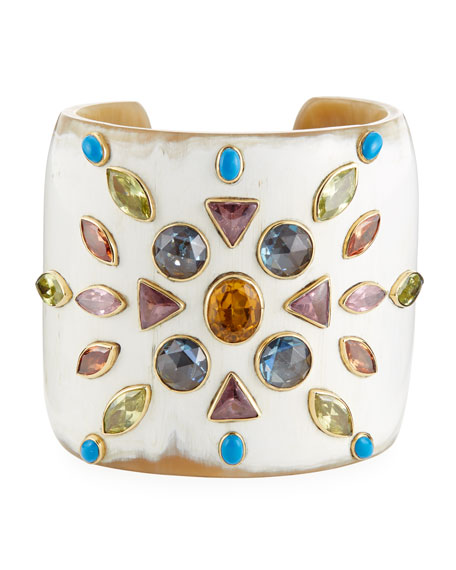 Ashley Pittman Mvutano Light Horn Cuff w/ Mixed