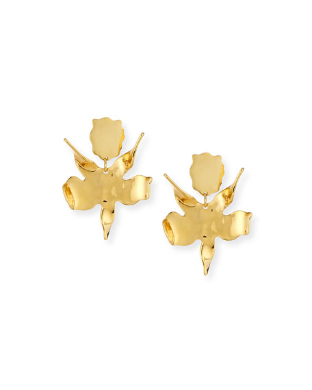 Lele Sadoughi Paper Lily Statement Earrings, Golden