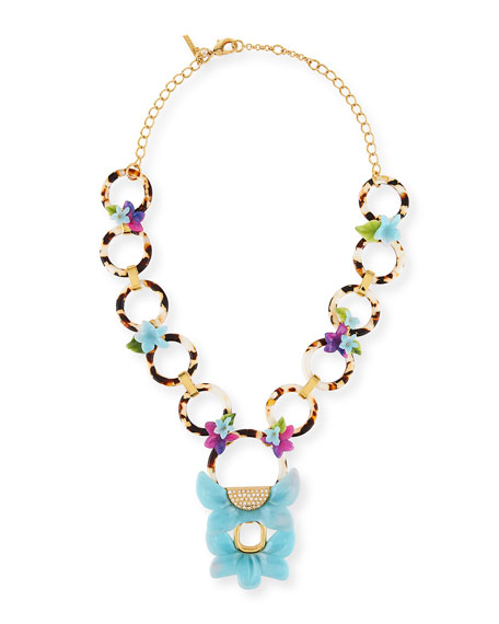 Rio Floral Crystal Pendant Necklace