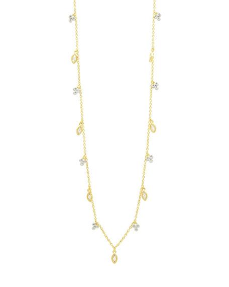 Freida Rothman 14k Cubic Zirconia Bloom & Petal Necklace, 40