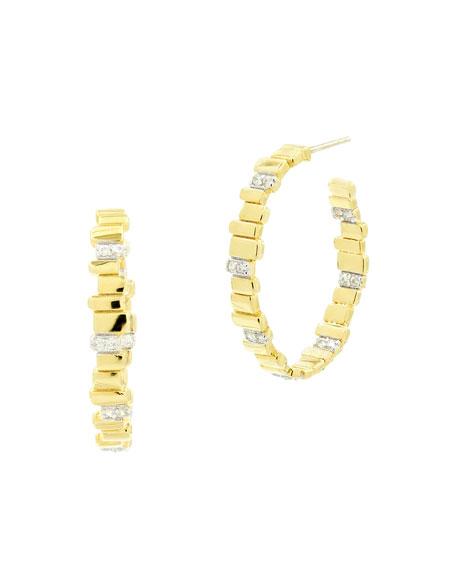 Freida Rothman Radiance Hoop Earrings w/ Cubic Zirconia