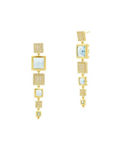Ocean Azure Linear Drop Earrings
