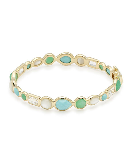 18K Rock Candy Mixed Hinge Bracelet in Pacific