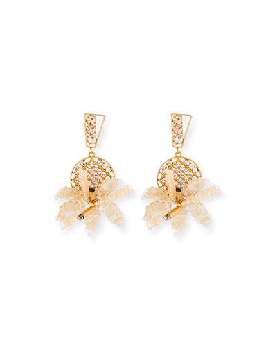 Bora Flower Statement Earrings