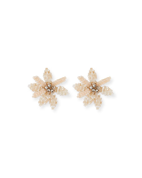 Tahiti Floral Stud Earrings, Pink