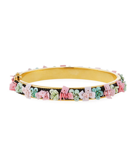 Petite Julia Floral Beaded Bangle Bracelet