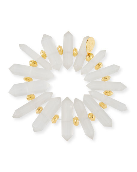 Devon Leigh Quartz Spike Stretch Bracelet