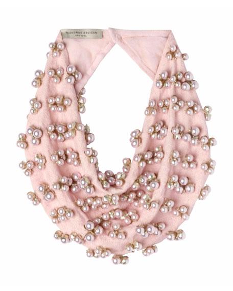 Delfina Scarf Necklace w/ Swarovski Pearls