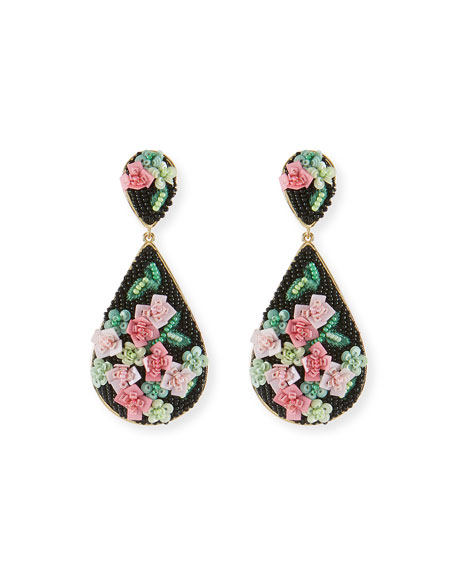 Mignonne Gavigan Julia Rosette Beaded Drop Earrings