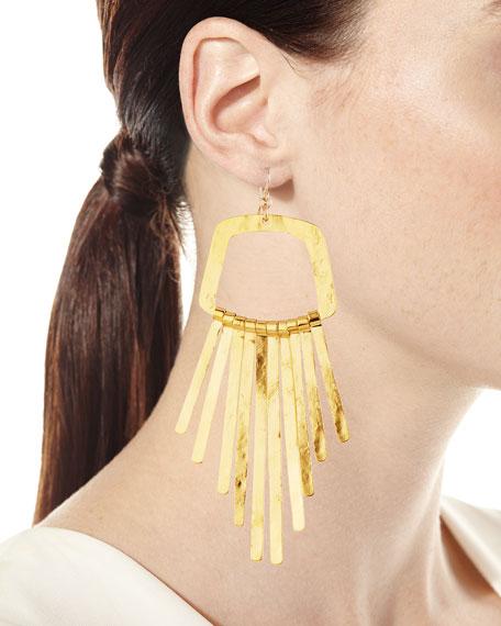 Large Fringe Drop Statement Earrings