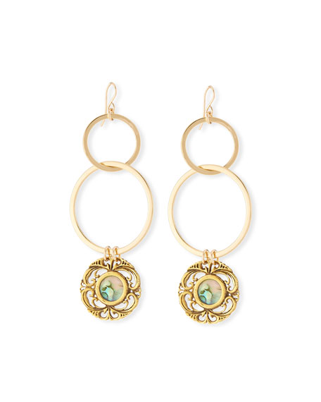 Devon Leigh Opalescent Double-Link Earrings