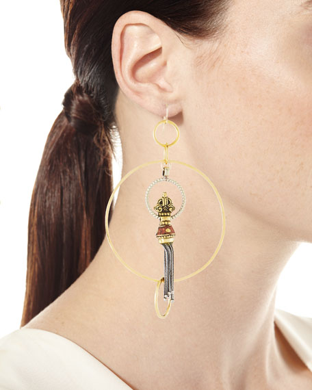 Multi-Circle & Tassel Earrings