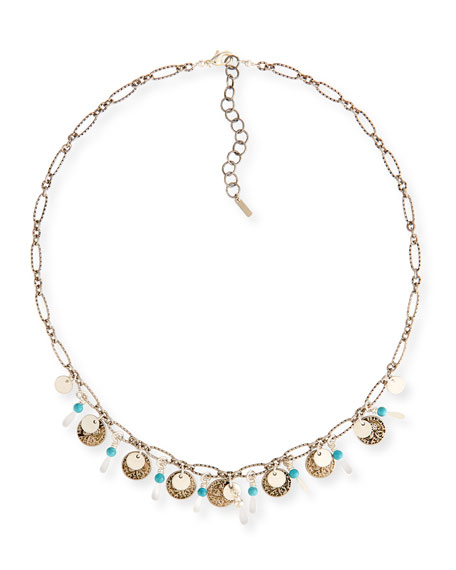 Chan Luu Turquoise Adjustable Chain Necklace RsVF5U