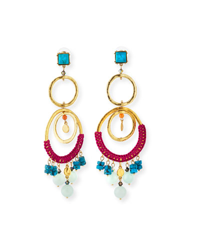 Two-Tier Wrapped Statement Earrings