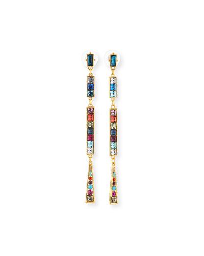 Rainbow Crystal Dangle Earrings