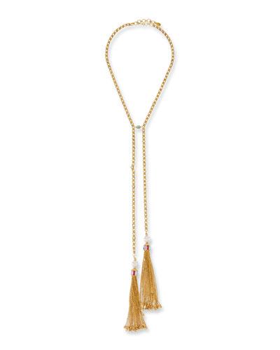 Double Tassel Y-Drop Necklace