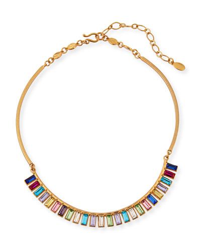 Rainbow Swarovski® Crystal Fan Necklace