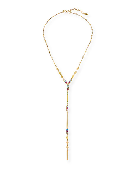 Dainty Rainbow Y-Drop Necklace