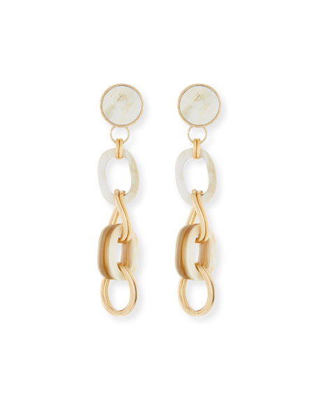 Akola Horn & Chain Drop Earrings