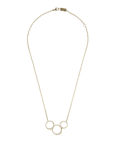 Ippolita 18k Stardust Diamond Ring Necklace