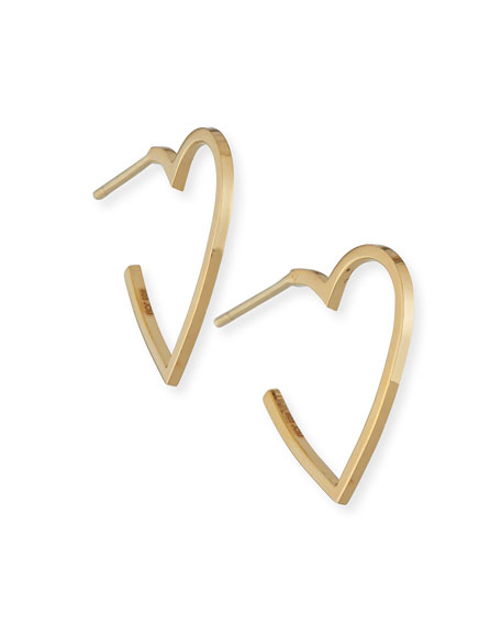 Jennifer Zeuner Larissa Mini Heart Hoop Earrings