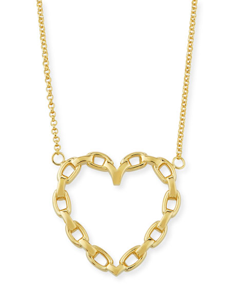 Jennifer Zeuner Fawn Chain Heart Pendant Necklace