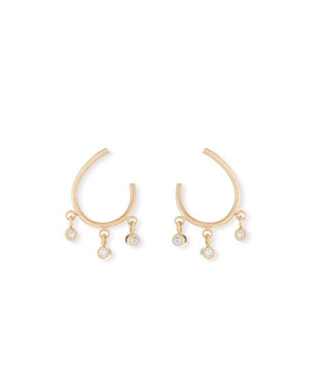 Zoe Chicco 14k Front-to-Back Diamond Hoop Earrings