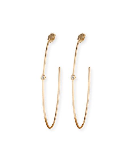 Zoe Chicco 14k Medium Diamond Hoop Earrings
