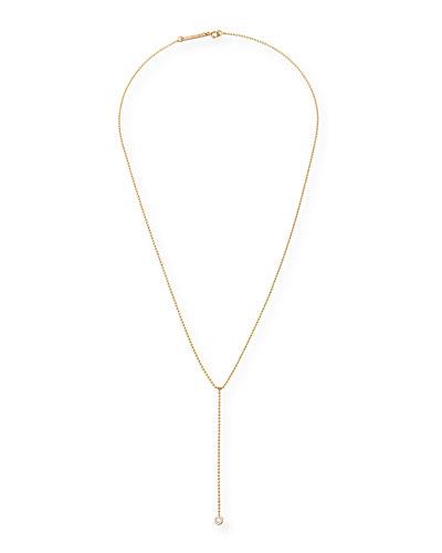 14k Diamond Lariat Necklace