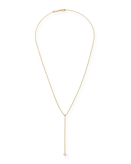 14k Diamond Lariat Necklace