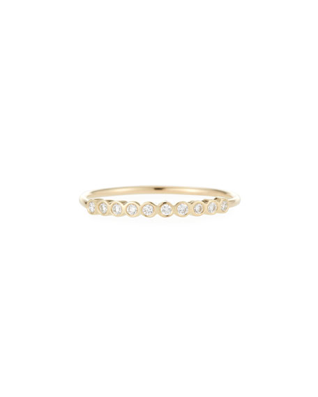 14k Tiny Diamond Ring