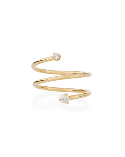 14k Prong Diamond Wrap Ring